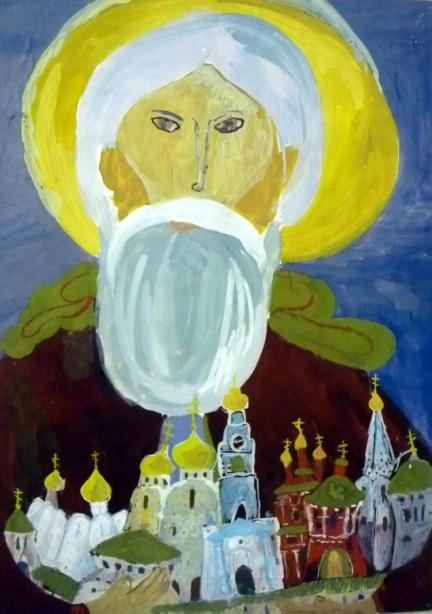«Св. Сергий и Троице-Сергиева Лавра» Аношин Боря, 10 лет
