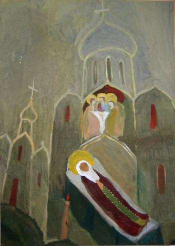 «Преставление Преподобного Сергия» Самоходкина Аня, 17 лет.